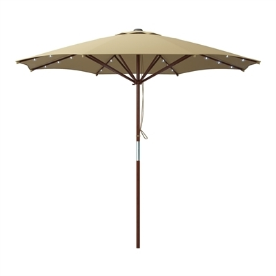 Best And Newest Corliving Pzt 7 Patio Umbrella With Solar Power Led Lights (View 4 of 15)