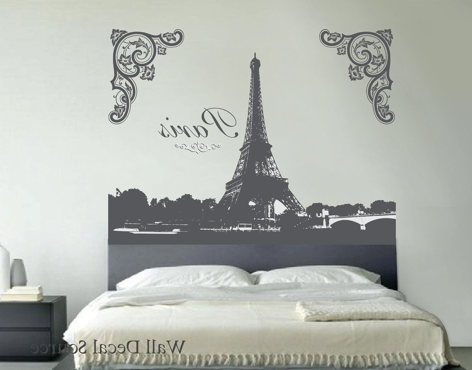 Best And Newest Eiffel Tower Wall Decal Wall Art Decalwalldecalsource, $ (View 1 of 15)