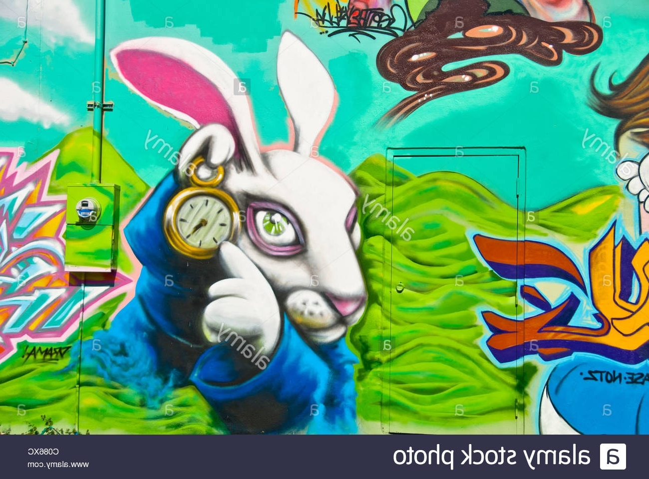 """Best And Newest Florida Wall Art With Alice In Wonderland"""" Graffiti Wall Art Mural Detail In Wynwood Art (View 9 of 15)"""