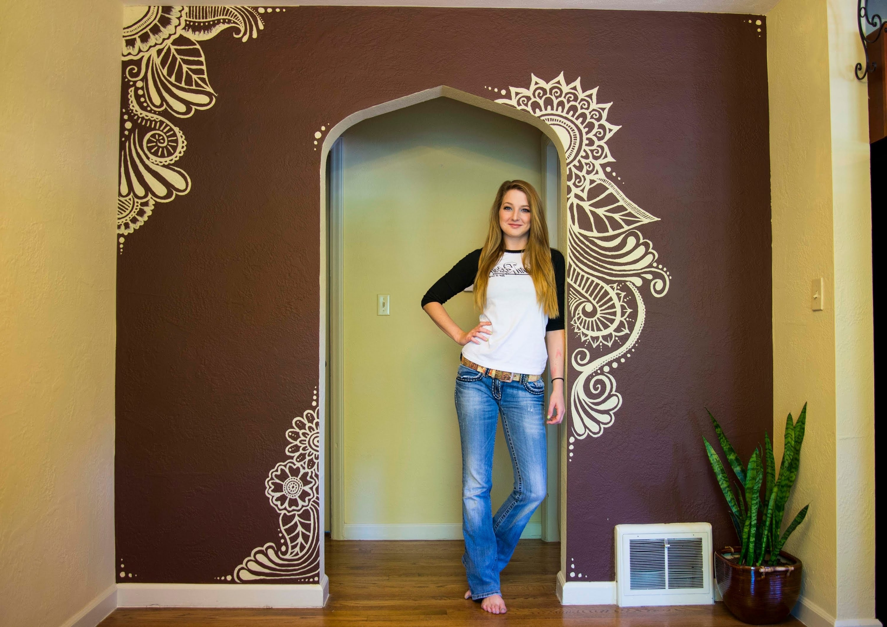 Best And Newest Henna Wall Art With Mehndi Wall Paint – I Moved! – Youtube (View 13 of 15)