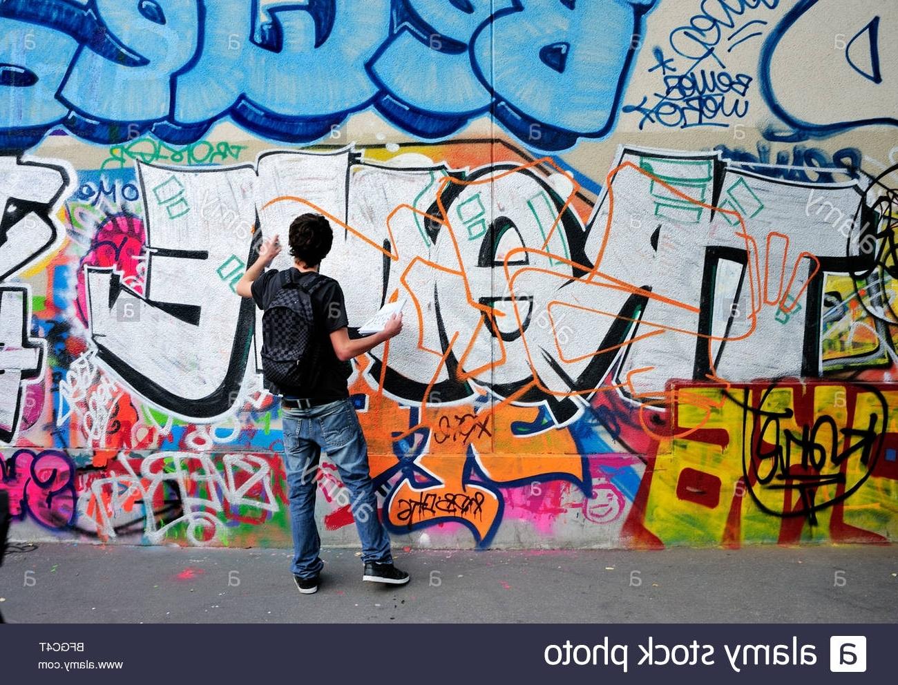 Best And Newest Hip Hop Wall Art Inside Hip Hop Wall Spray Drawing Graffiti Wall Art Background, Hip Hop (View 13 of 15)