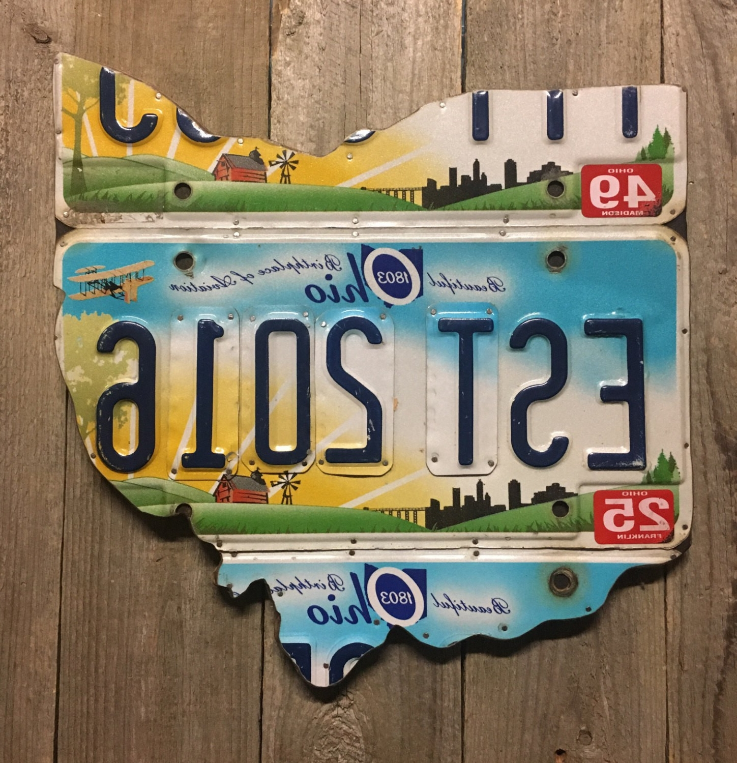 Best And Newest License Plate Map Wall Art With United States Map Made Out Of License Plates Best Us Map In License (View 7 of 15)
