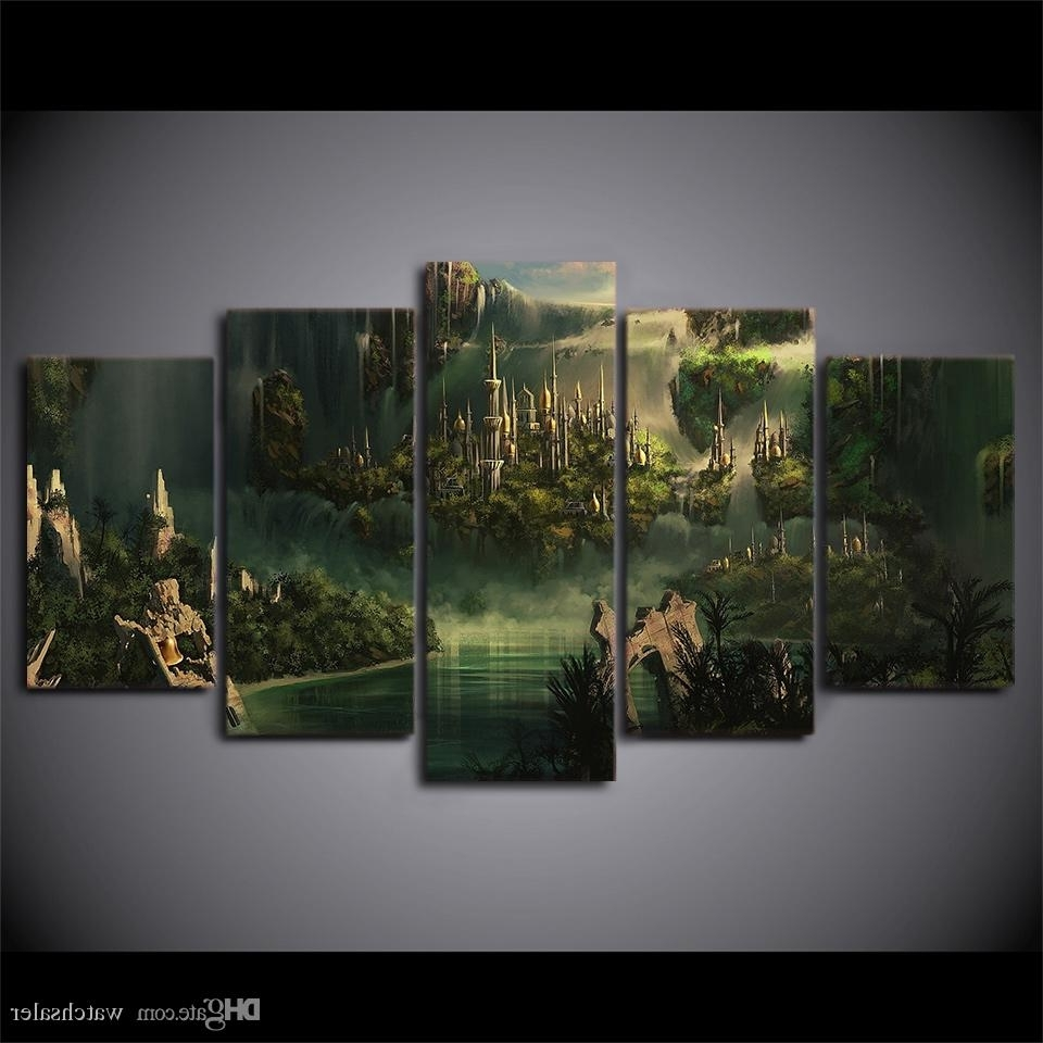 Best And Newest Lord Of The Rings Wall Art Within Best Hd Printed Canvas Art Lord Of The Rings Painting Mysterious (View 2 of 15)