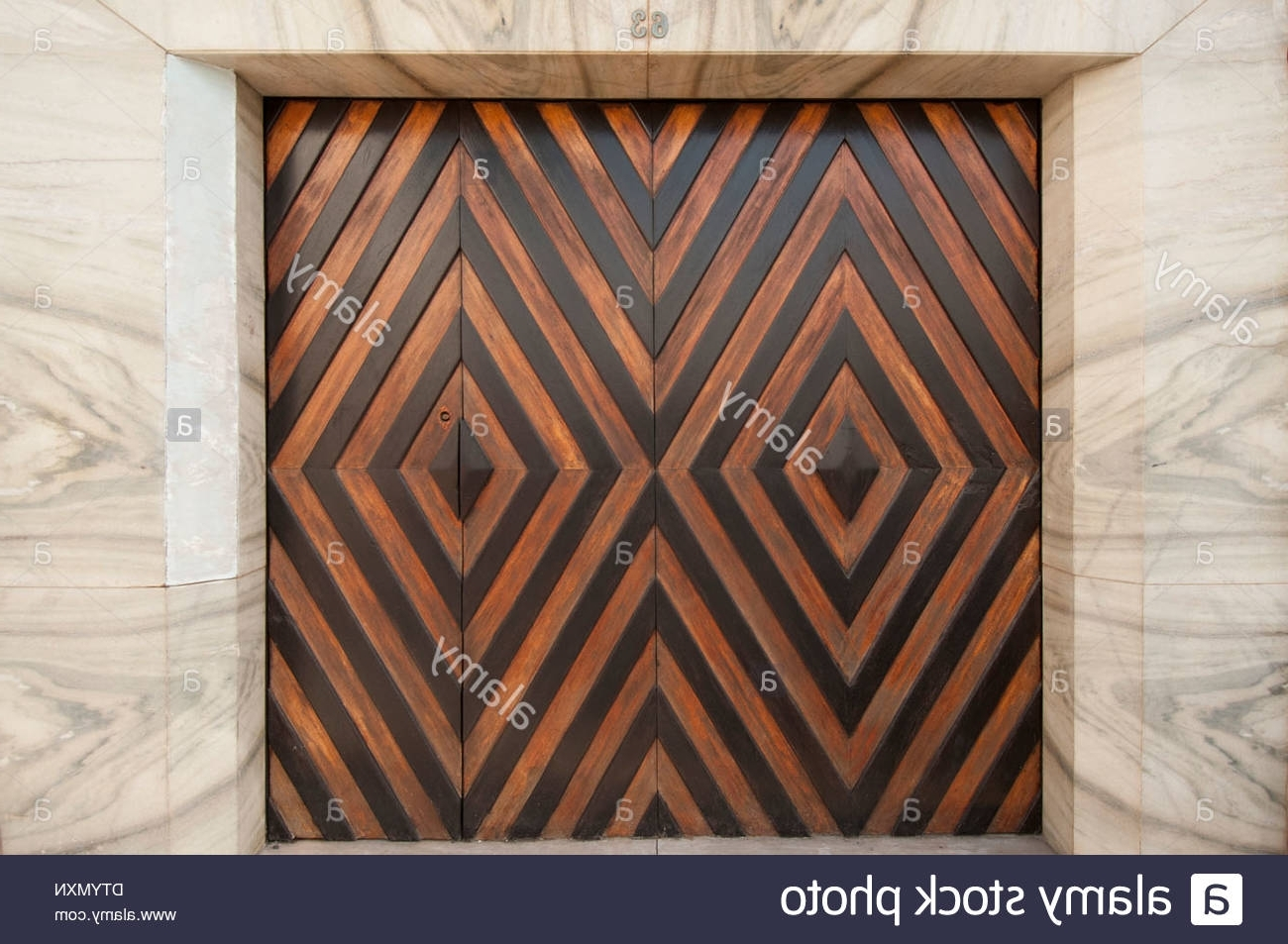 Best And Newest Modern Art Deco Style Garage Doors Set Into Marble Wall, Portugal With Regard To Art Deco Wall Art (View 6 of 15)