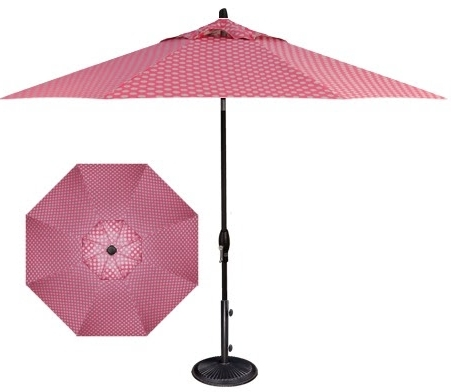 Best And Newest Modern Home Design Ideashonoriag: Shade Yourself From The Sun With Pink Patio Umbrellas (View 3 of 15)