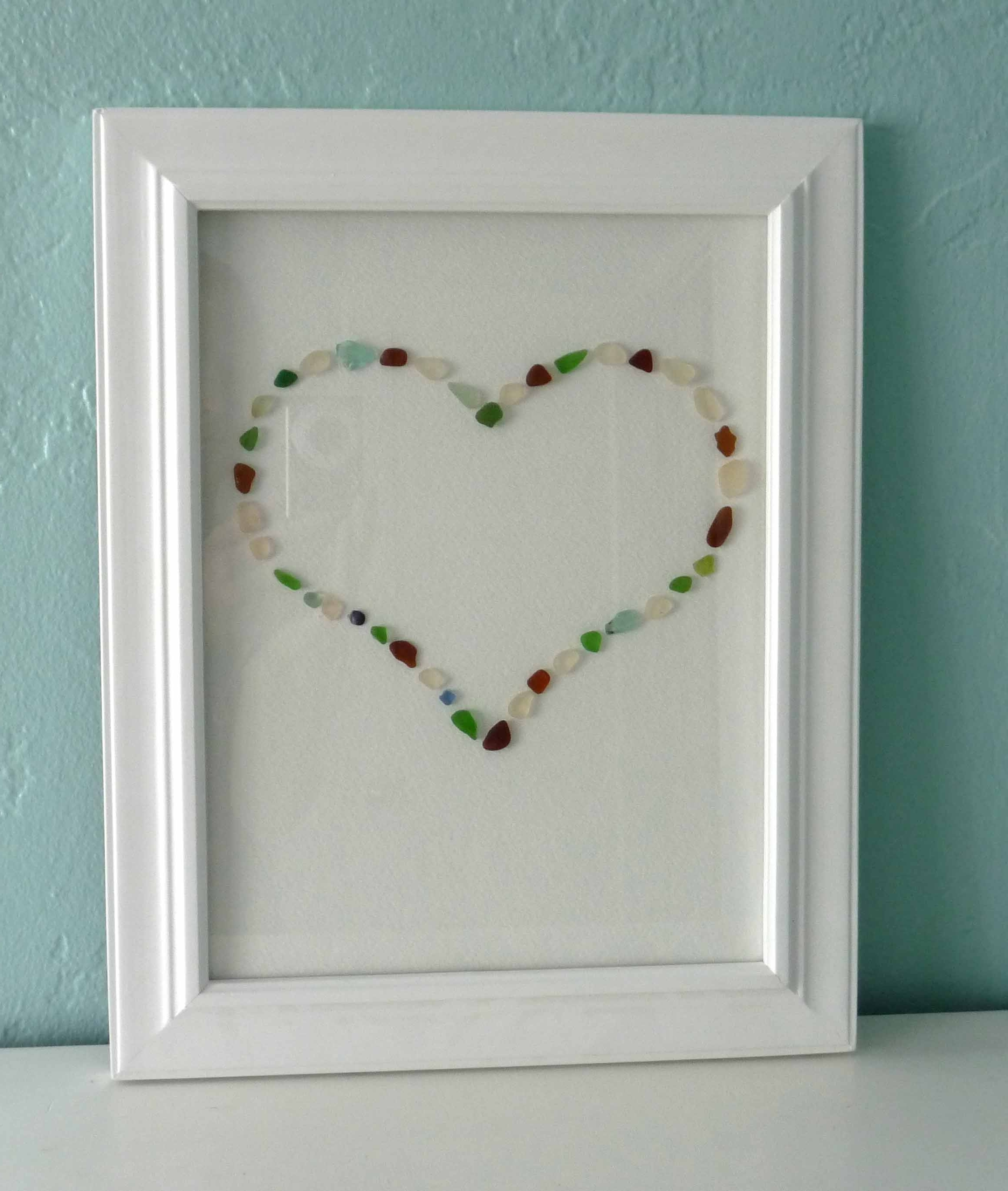 Best And Newest One Pretty Thing Diy Craft Tutorials, Sea Glass Wall Art – Swinki Regarding Sea Glass Wall Art (View 3 of 15)