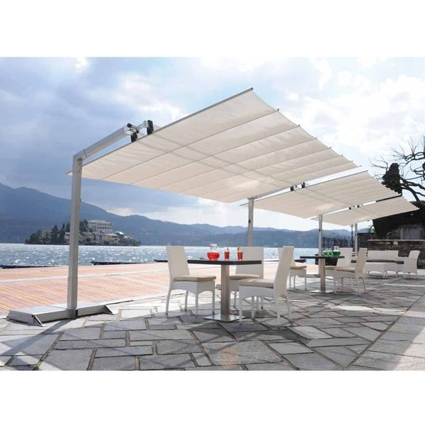 Best And Newest Patio Umbrellas For High Wind Areas Throughout Italian Outdoor Patio Awnings, Awning, Garden – Homeinfatuation (View 2 of 15)