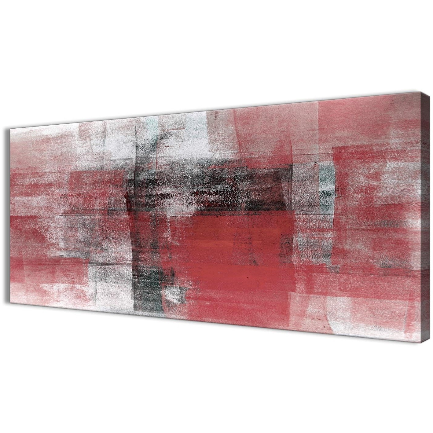 Best And Newest Red And Black Canvas Wall Art Regarding Red Black White Painting Living Room Canvas Wall Art Accessories (View 2 of 15)