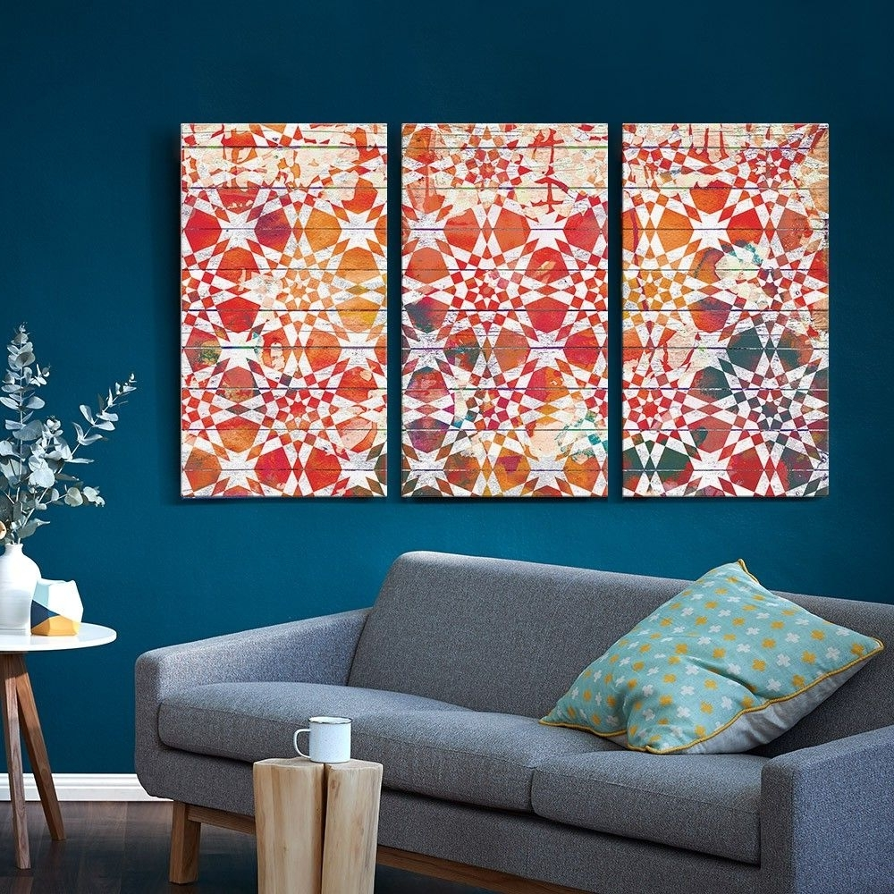 Best And Newest Set Of 3 Moroccan Tile Canvas Prints – T&w Art Collection – T&w Art With Regard To Tile Canvas Wall Art (View 4 of 15)