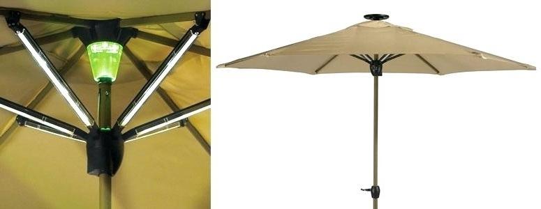 Best And Newest Solar Powered Umbrellas Outdoor Rectangular Led Lighted Patio Regarding Lighted Patio Umbrellas (View 2 of 15)