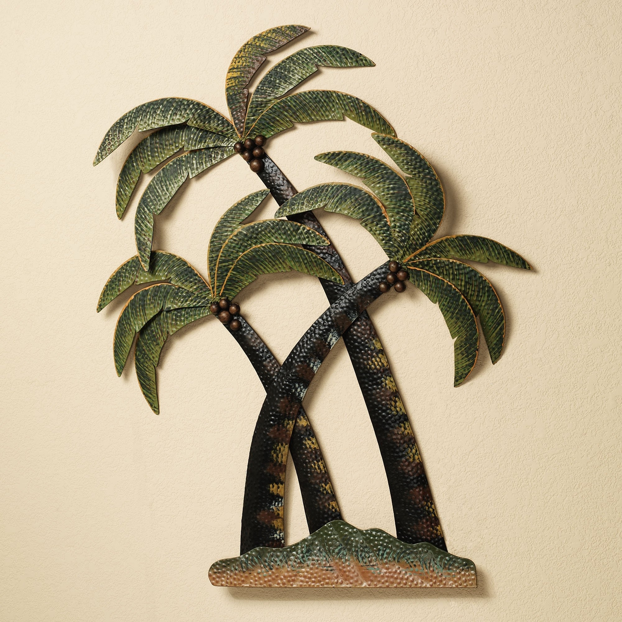 Best And Newest Wall Art Design Ideas: Sculpture Metal Palm Tree Wall Art, Palm Tree With Palm Tree Wall Art (View 2 of 15)