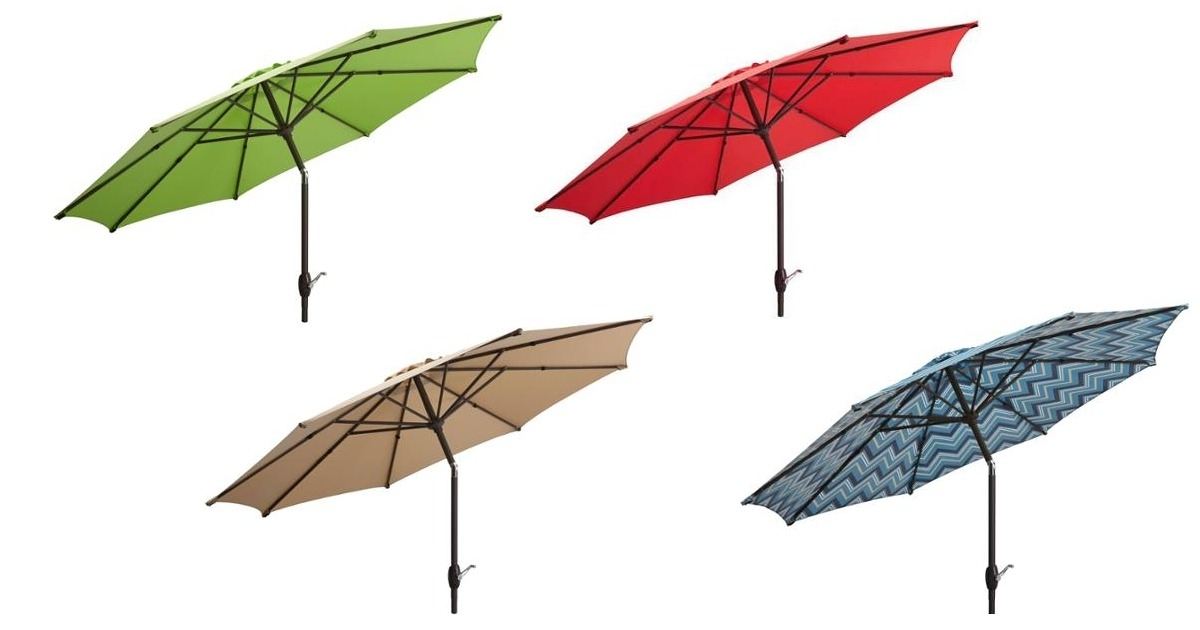 Best And Newest Walmart: Mainstays 9′ Patio Umbrella Only $ (View 7 of 15)
