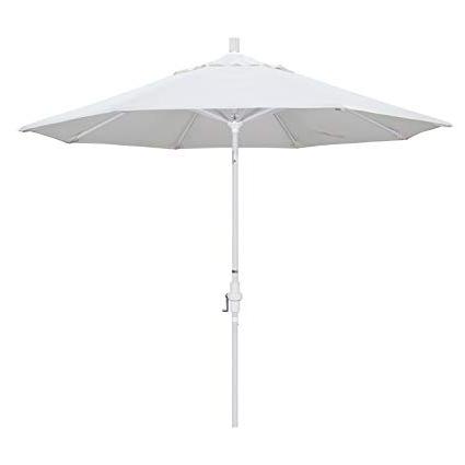 Best And Newest White Patio Umbrellas In Amazon : California Umbrella 9' Round Aluminum Market Umbrella (View 2 of 15)