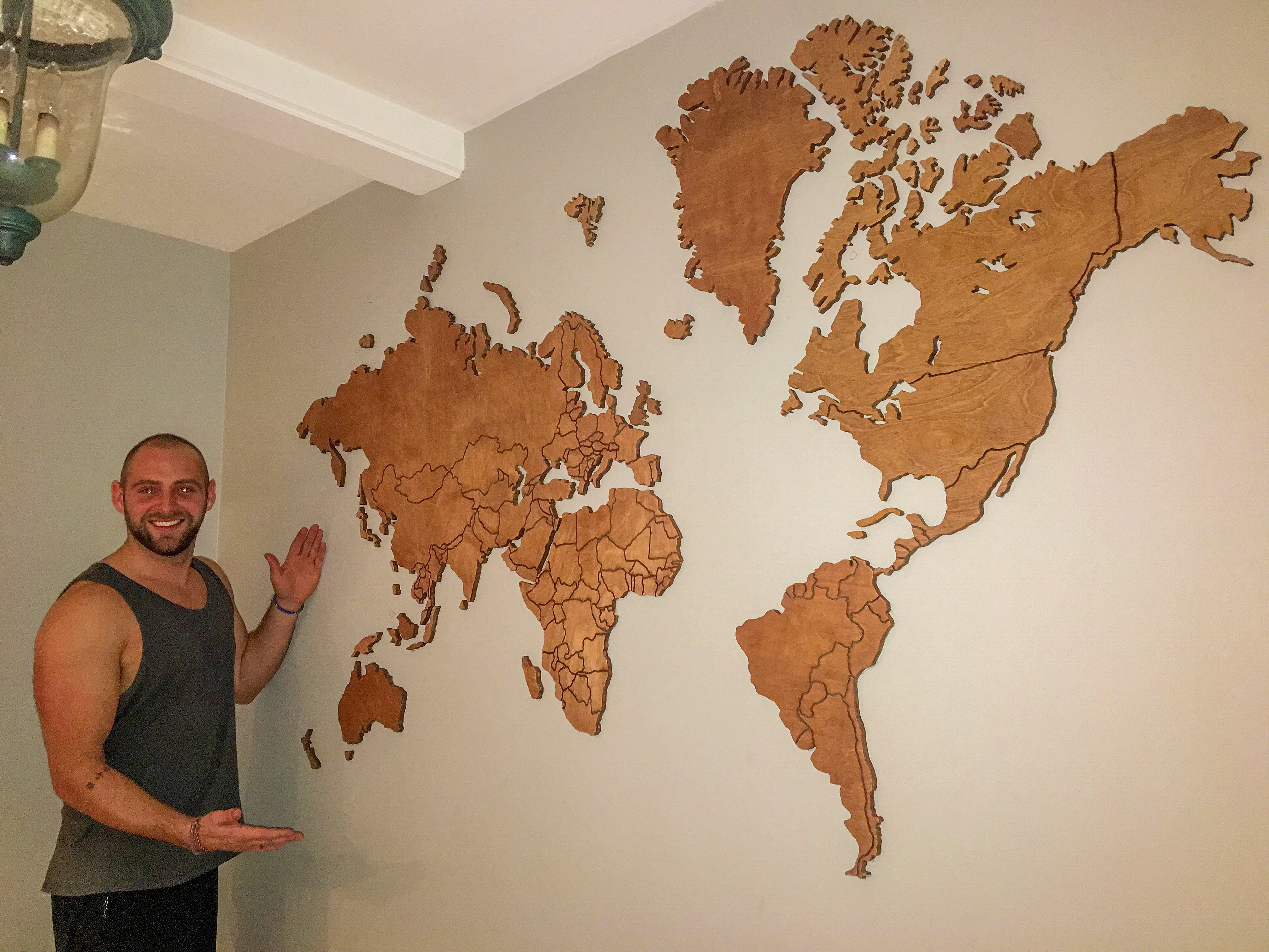 Best And Newest Wood Map Wall Art With Regard To Wooden World Map Wall Art – Arsmart (View 1 of 15)