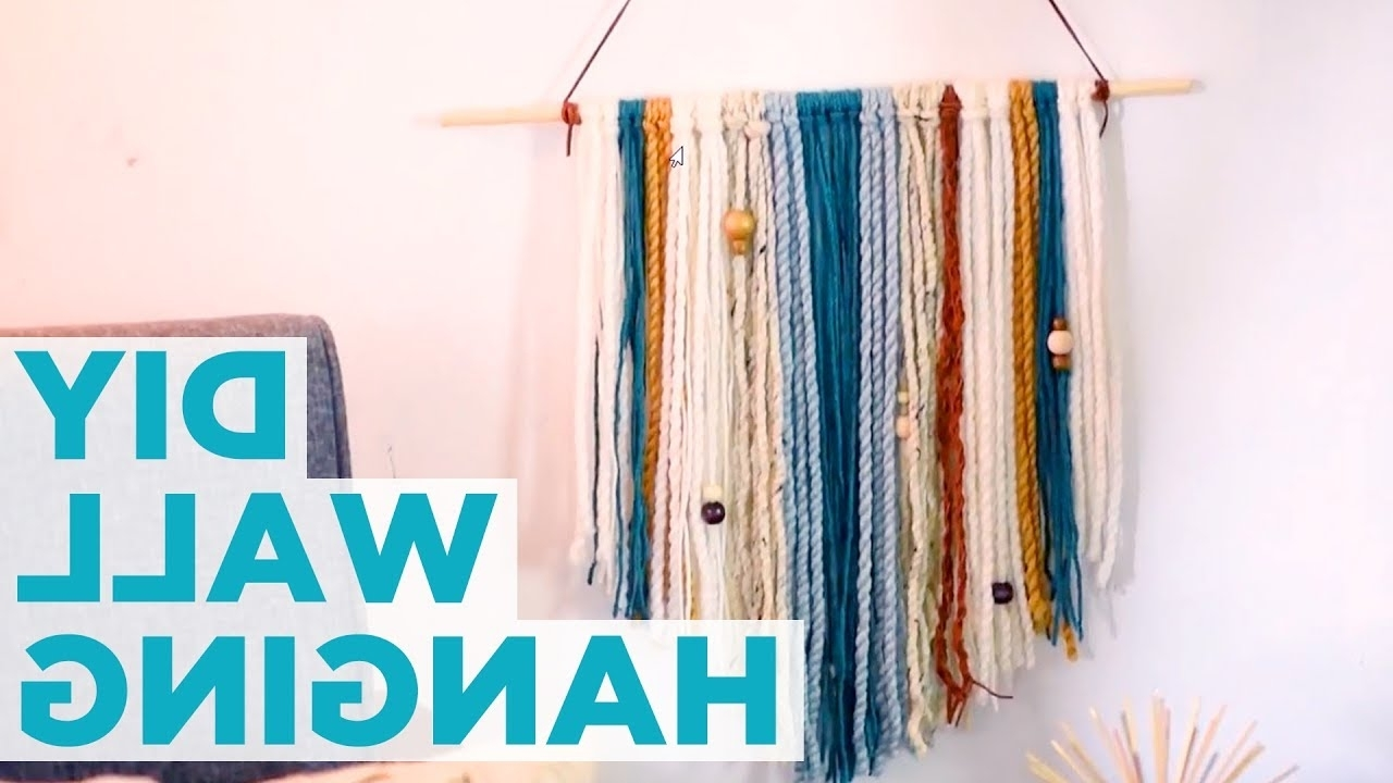 Best And Newest Yarn Wall Art With Regard To Diy Yarn Wall Hanging – Hgtv – Youtube (View 5 of 15)
