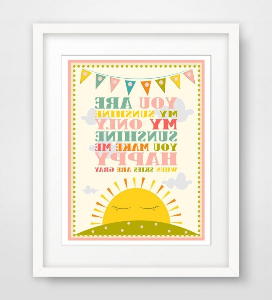 Best And Newest You Are My Sunshine Wall Art Big You Are My Sunshine Wall Decor For You Are My Sunshine Wall Art (View 1 of 15)