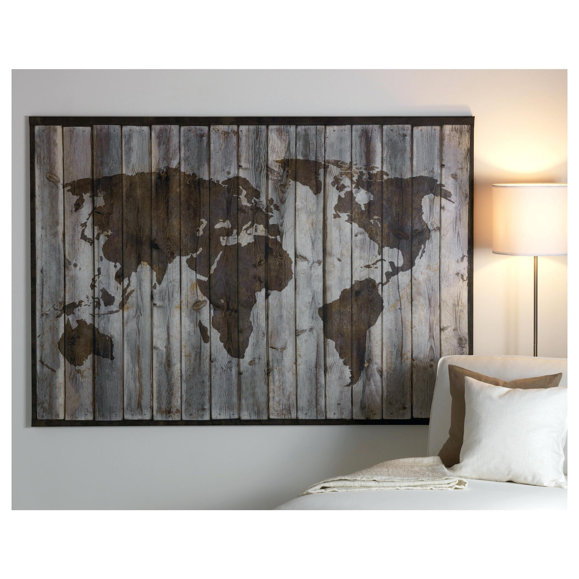 Best Ikea Wall Decoration Ready To Hang Posters Art World Map Canvas Throughout 2017 Ikea Canvas Wall Art (View 2 of 15)