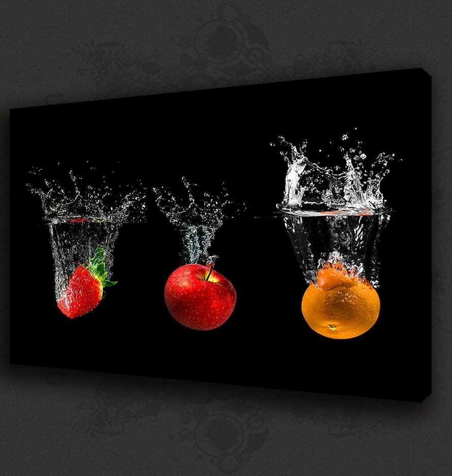 Best Kitchen Canvas Wall Decor Home Furniture Design Modern Within Current Kitchen Canvas Wall Art Decors (View 4 of 15)