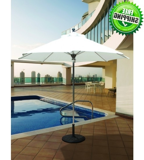 Best Selection Commercial Patio Umbrellas – Galtech 9 Ft Featuring Inside Most Recently Released Commercial Patio Umbrellas Sunbrella (View 9 of 15)