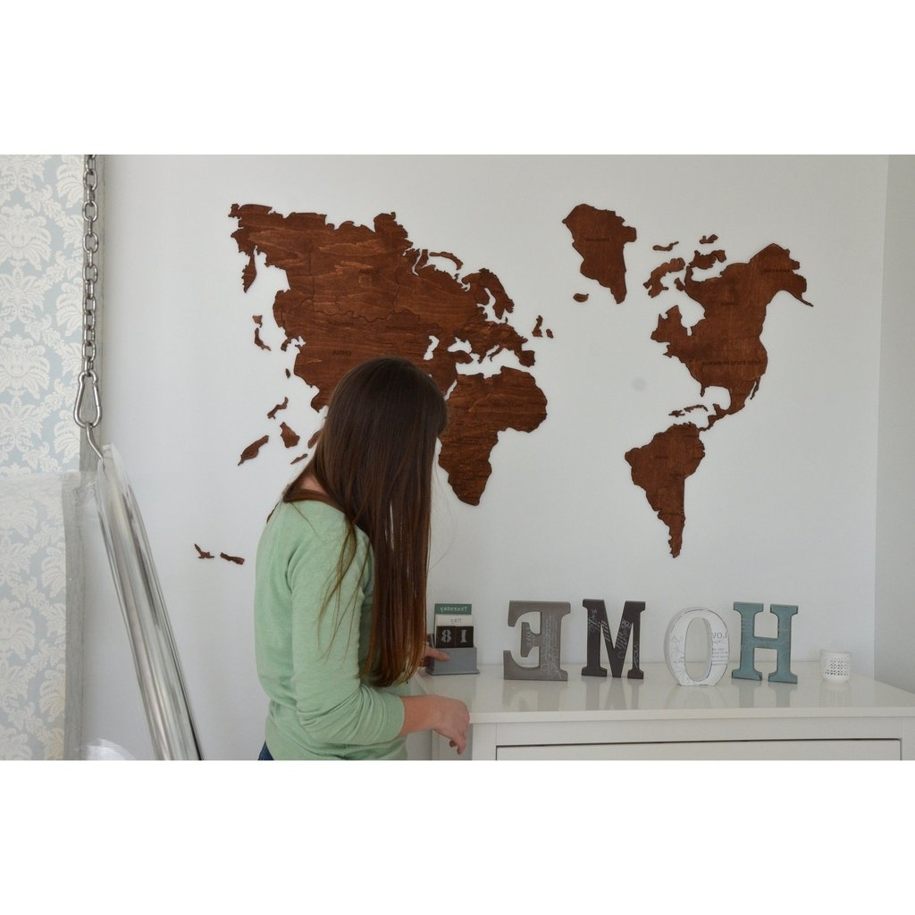 Best World Map Wood Wall Art 12 – Link Italia Pertaining To Widely Used World Map Wood Wall Art (View 14 of 15)