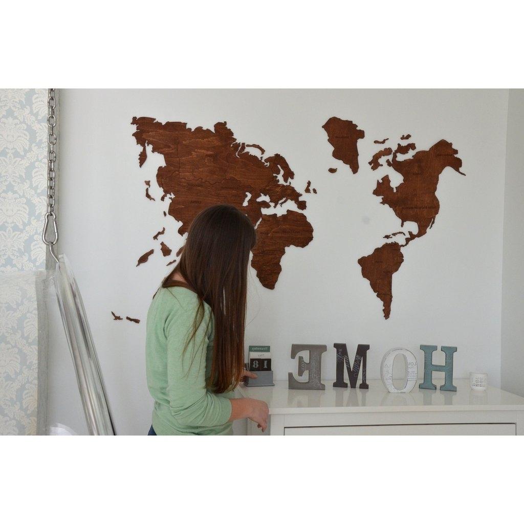 Best World Map Wood Wall Art 12 – Link Italia Pertaining To Widely Used World Map Wood Wall Art (View 14 of 15)