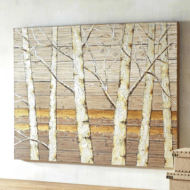 Birch Tree Wall Art In Preferred Birch Wall Art Metallic Birch Trees Wall Art Birch Tree Wall Art (View 5 of 15)