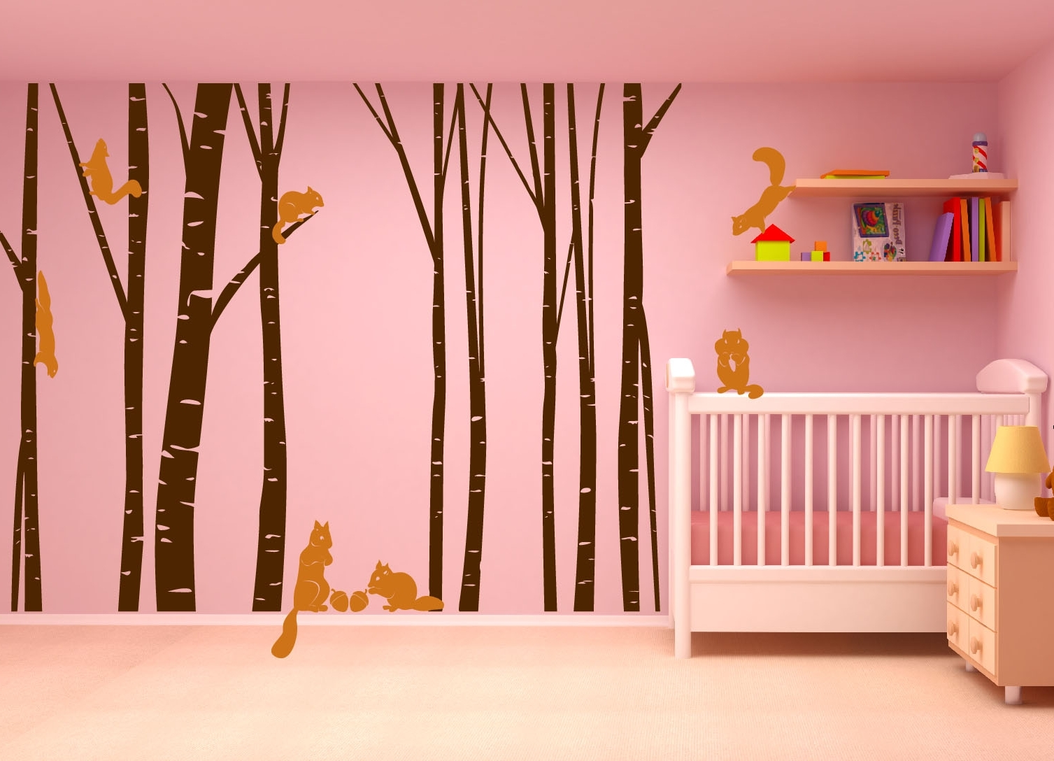 Birch Tree Wall Art Inside Trendy Brown Birch Tree Wall Art : Andrews Living Arts – Look Fresh And (View 8 of 15)