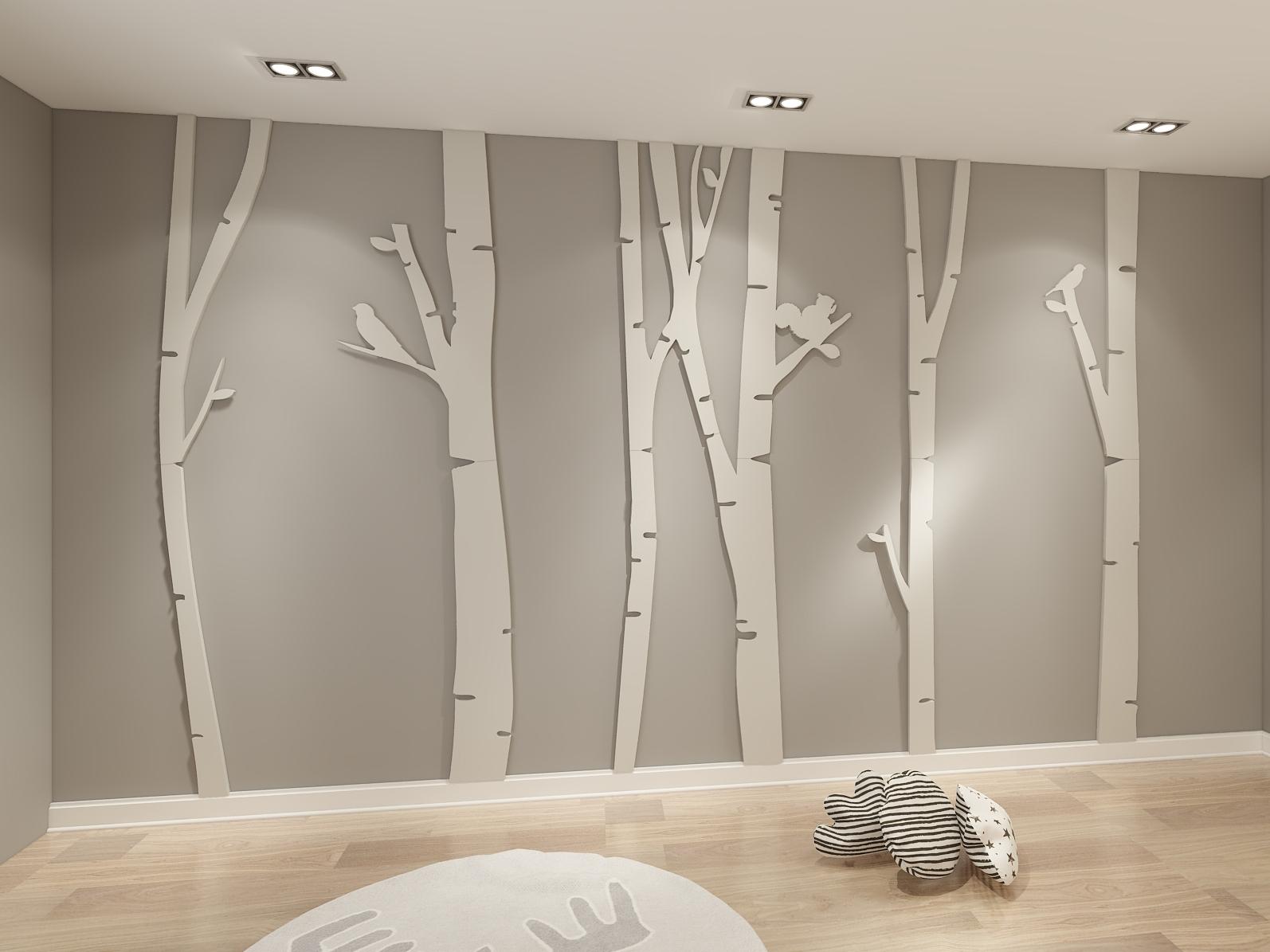 Birch Tree Wall Art Regarding Current Birch Tree 3D Wall Art – Moonwallstickers (View 6 of 15)