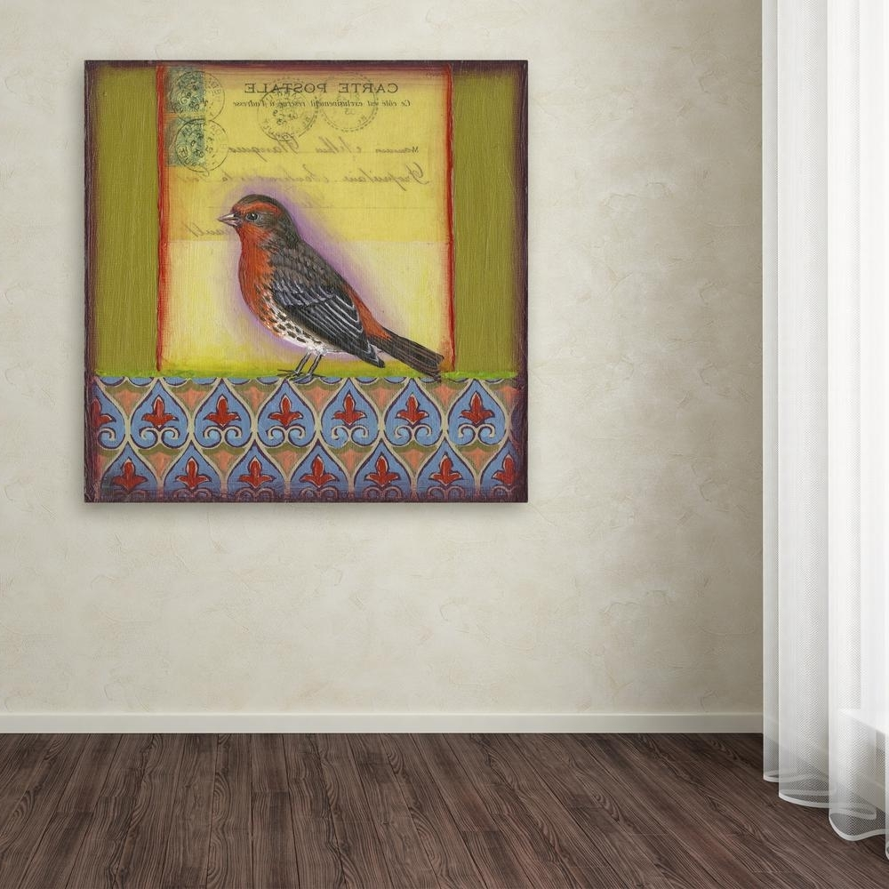 Bird Framed Canvas Wall Art For Fashionable Trademark Fine Art 35 In. X 35 In (View 2 of 15)