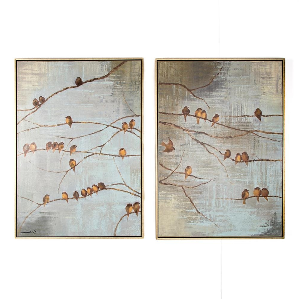 Bird Framed Canvas Wall Art Inside Most Popular Graham & Brown 28 In. X 39 In (View 1 of 15)