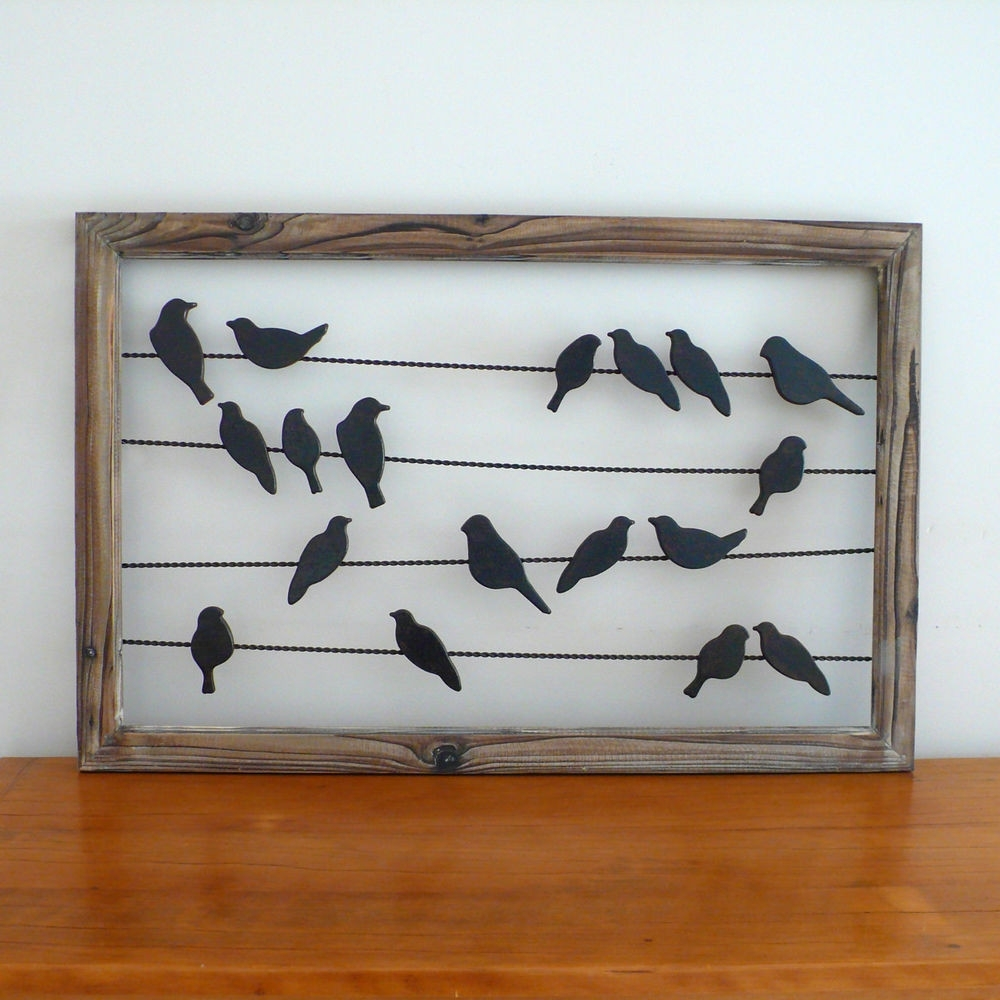 Birds On A Wire Wall Art Pertaining To Most Recently Released Outstanding Birds Wire Wall Decor Photo Painting Ideas Fancy Bird On (View 3 of 15)