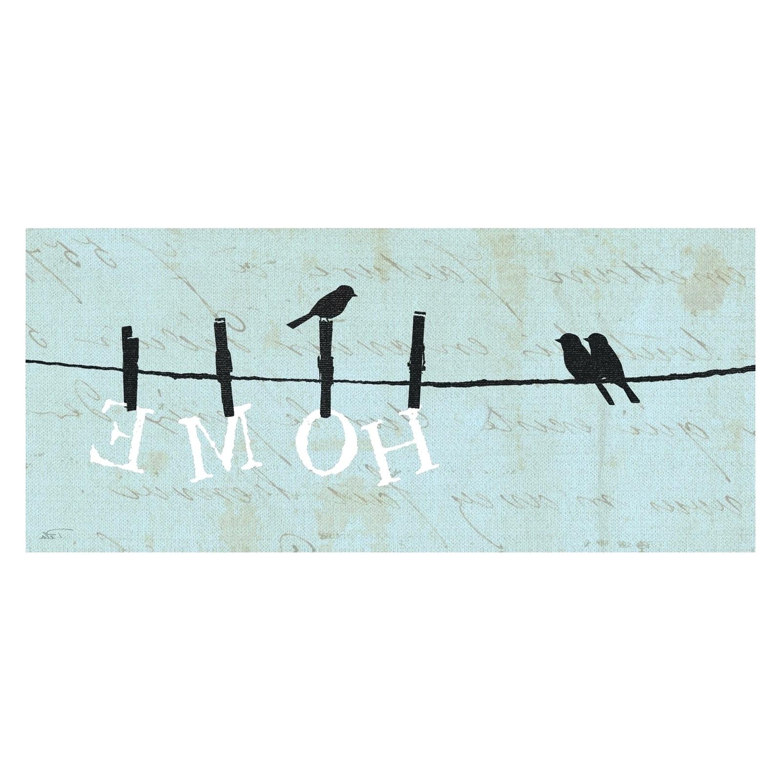 Birds On A Wire Wall Art Regarding Trendy Charming Ideas Birds On A Wire Wall Art Arts Home Decor 20 Top (View 8 of 15)