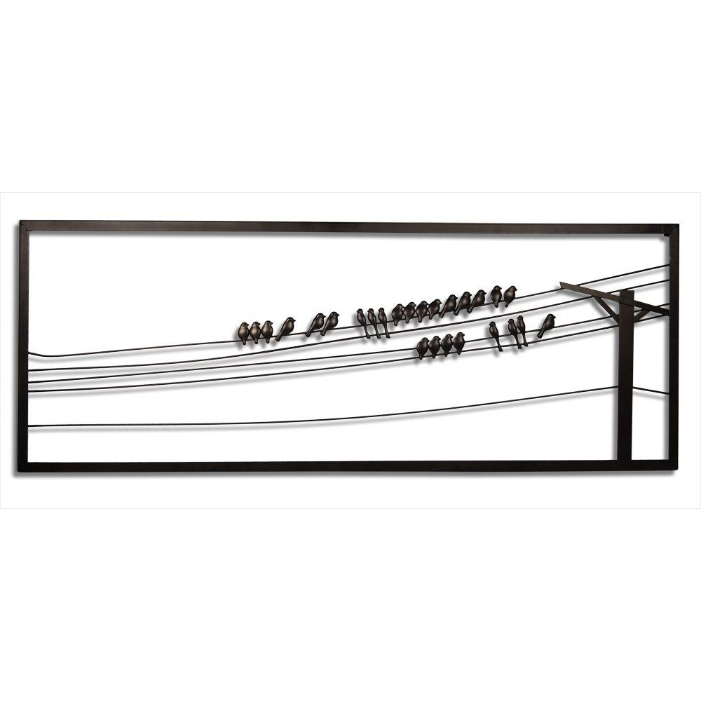 Birds On Wire 48 In. W X 1 In. D X 18 In (View 6 of 15)