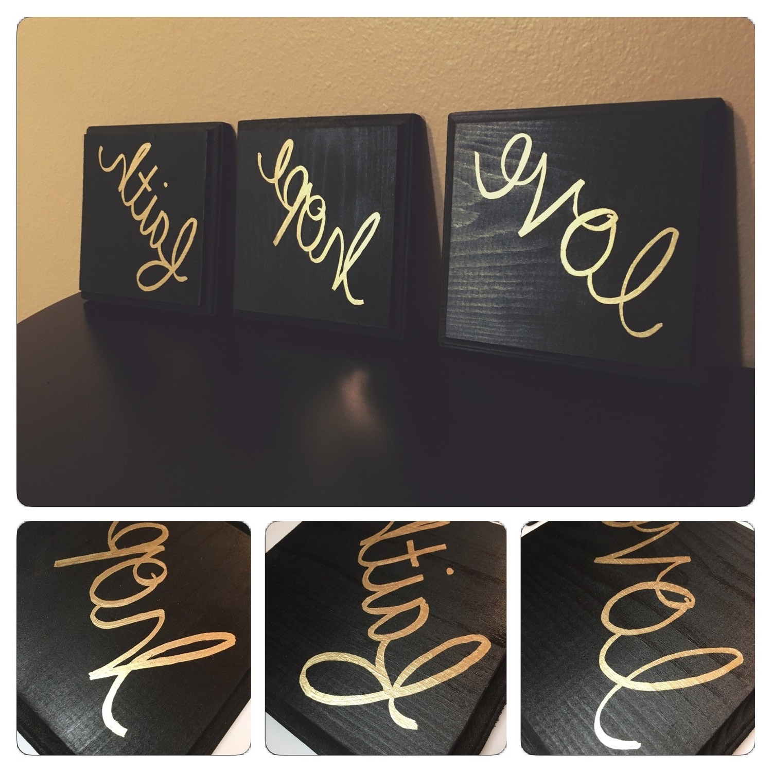 Black And Gold Wall Art Within Popular Black And Gold Wall Decor (View 4 of 15)