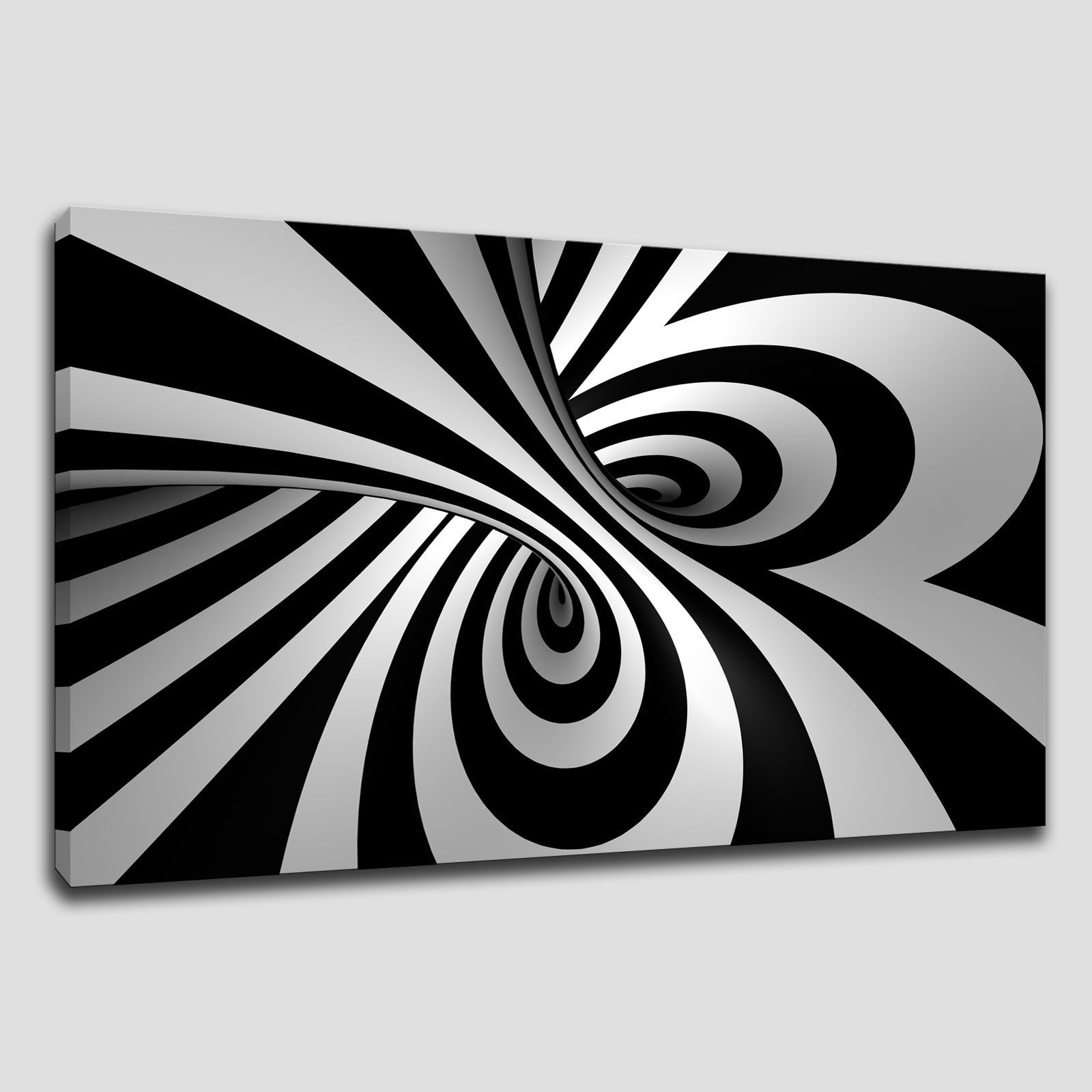 Black And White Large Canvas Wall Art Regarding 2018 Abstract Spiral Large Canvas Print Wall Art (View 12 of 15)
