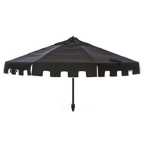 Black Patio Umbrellas In Recent Poppy Greek Key Patio Umbrella, Black (View 14 of 15)