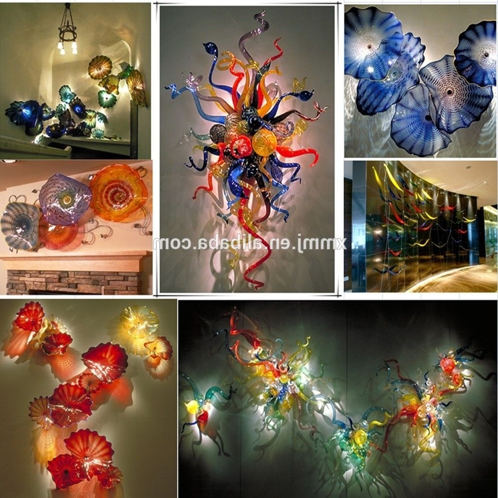Blown Glass Wall Art For Most Recently Released Hand Made Decorative Blown Murano Art Colored Glass Murals Wall (View 13 of 15)