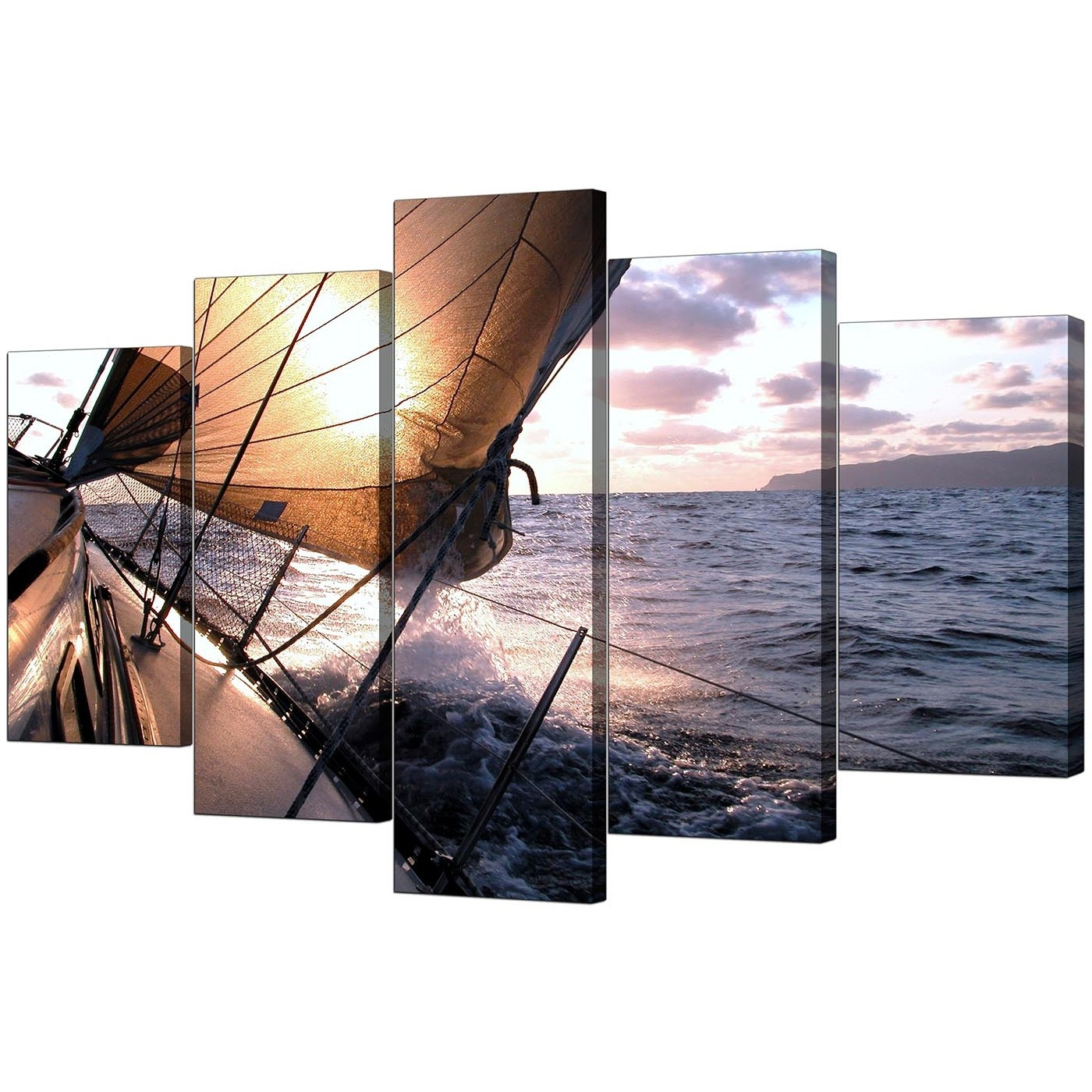 Boat Canvas Prints Uk For Your Living Room – 5 Piece Inside Latest 5 Piece Wall Art Canvas (View 6 of 15)