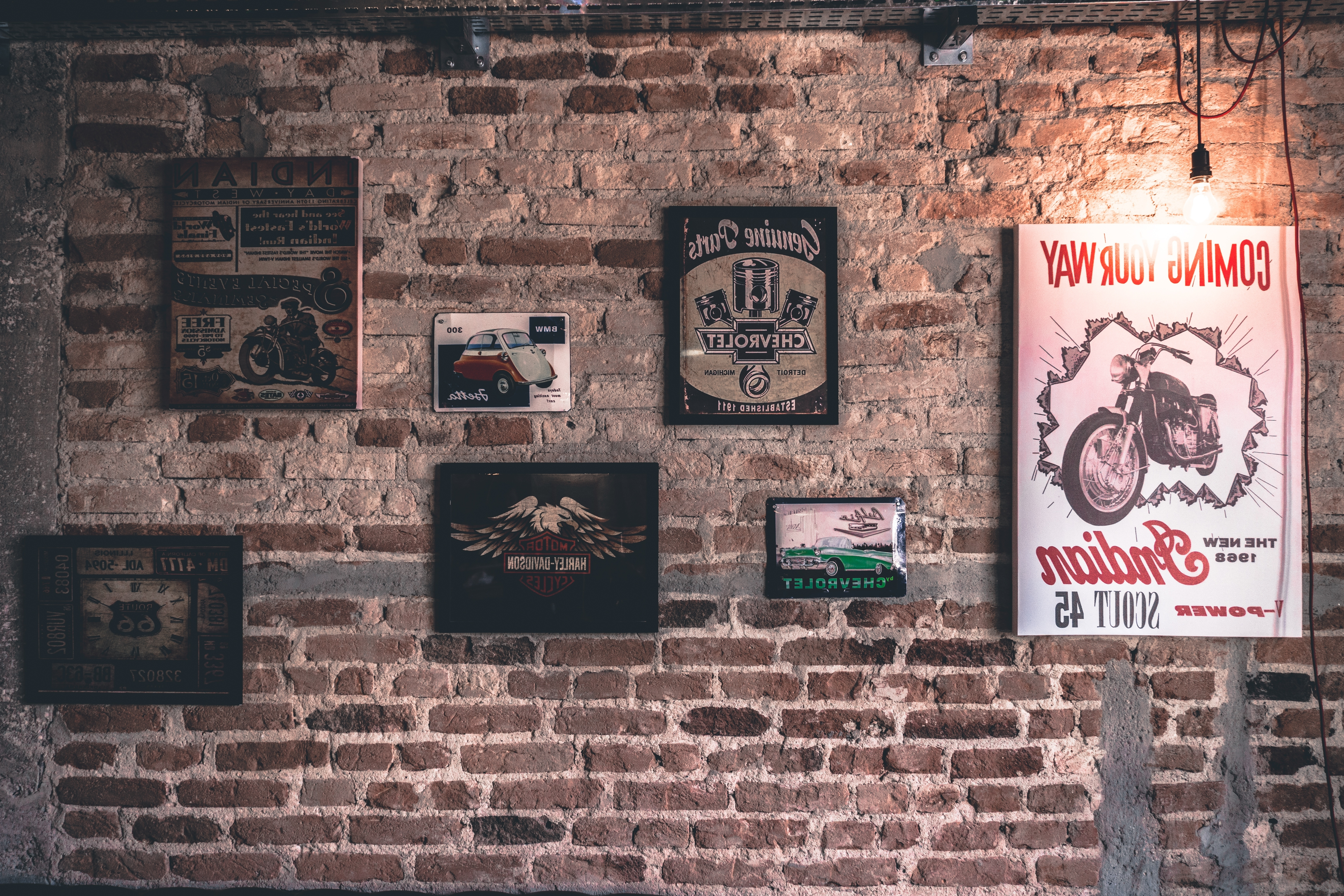 Brick Wall Art Frame Vintage Free Stock Photo – Negativespace Throughout Newest Vintage Wall Art (View 5 of 15)