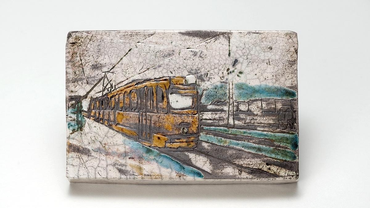 Budapest Series 1 – Raku Ceramic Wall Art (View 6 of 15)