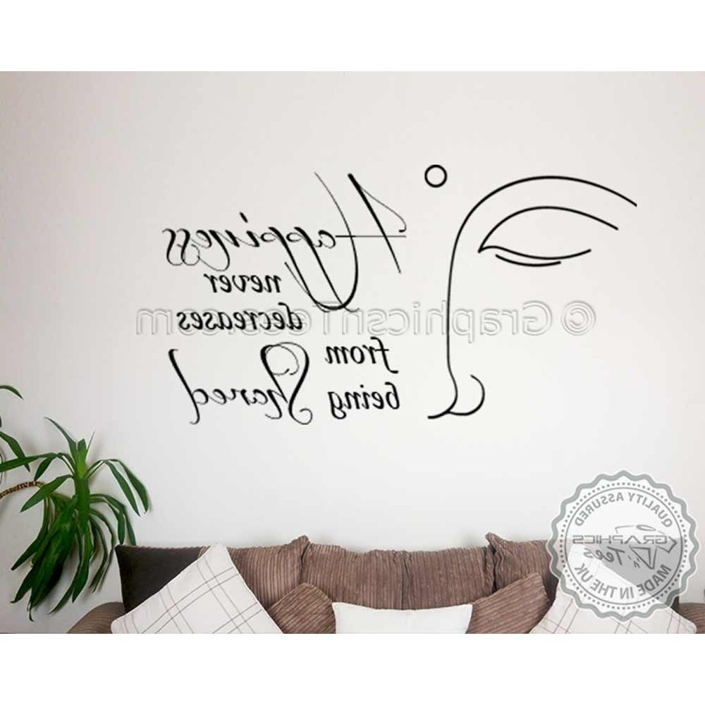 Buddha Inspirational Quote, Happiness Shared Motivational Wall Inside Best And Newest Motivational Wall Art (View 14 of 15)