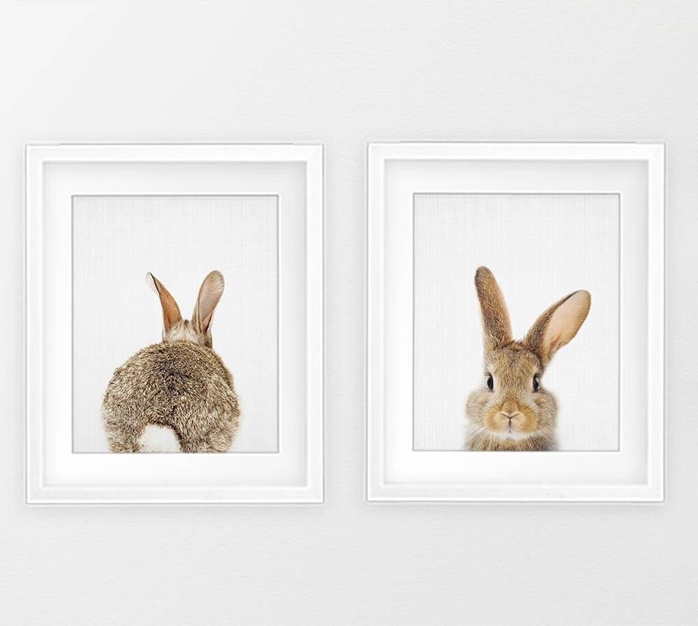 Bunny Print Wall Art (View 7 of 15)