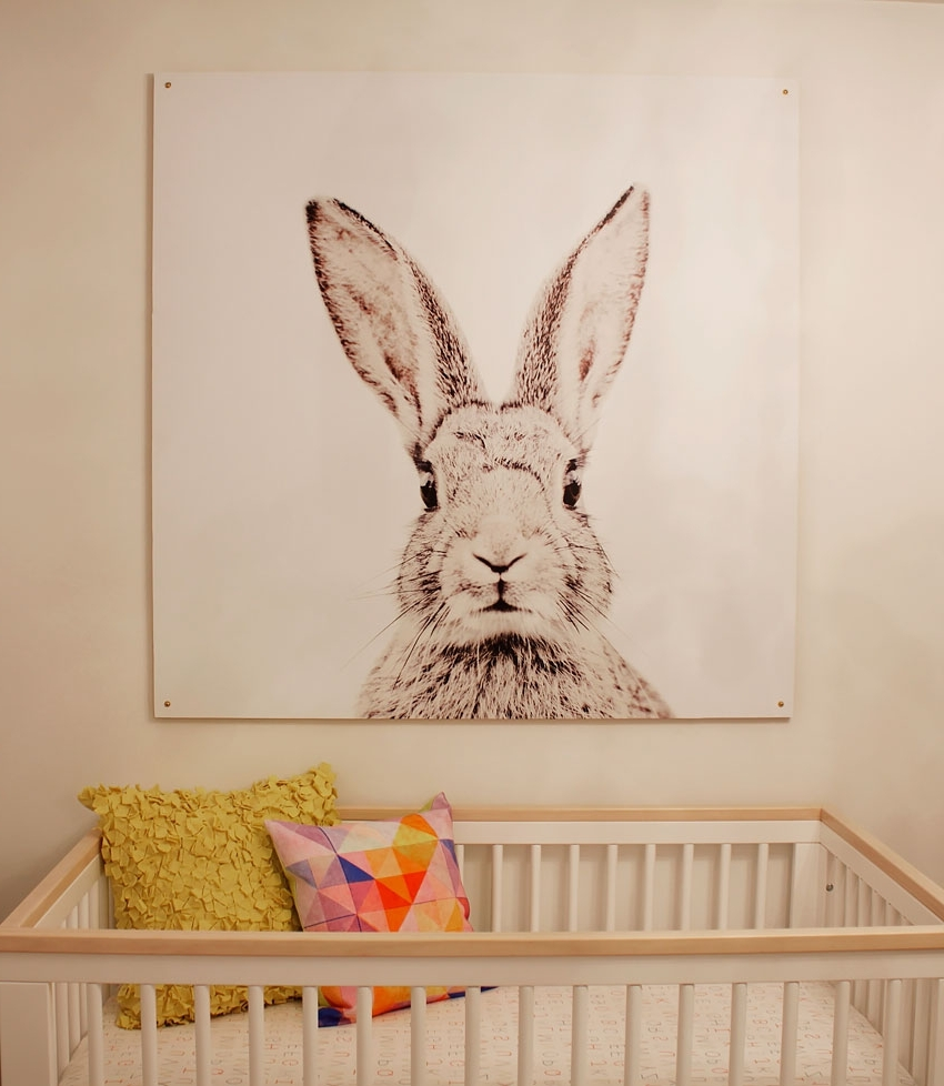 Bunny Wall Art Throughout Fashionable 43 Bunny Wall Art, Compare Prices On Animated Bunny Pictures Online (View 3 of 15)