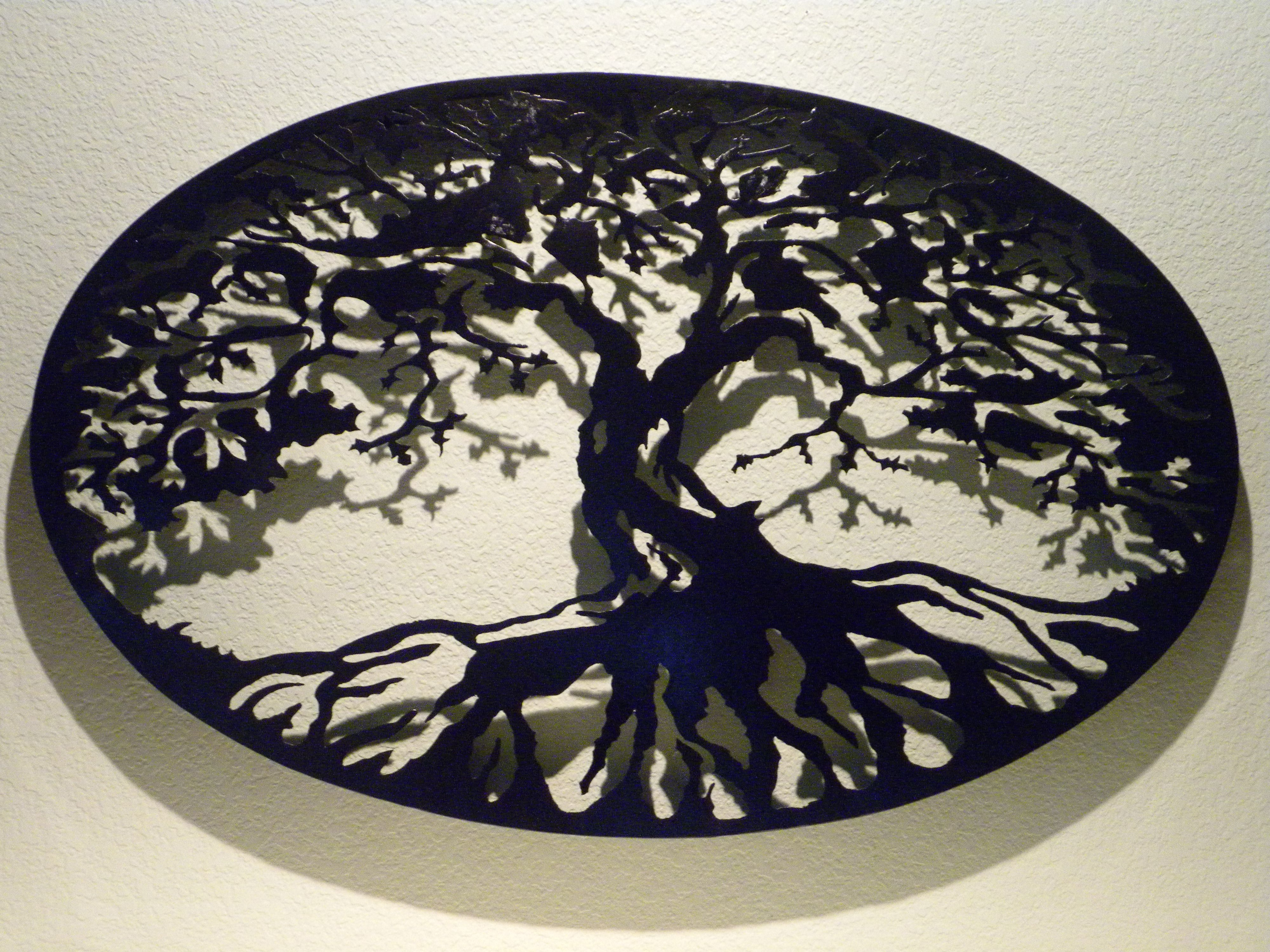 Buy A Custom Oval Tree Of Life Metal Wall Art, Made To Order From For Most Recently Released Tree Of Life Wall Art (View 3 of 15)