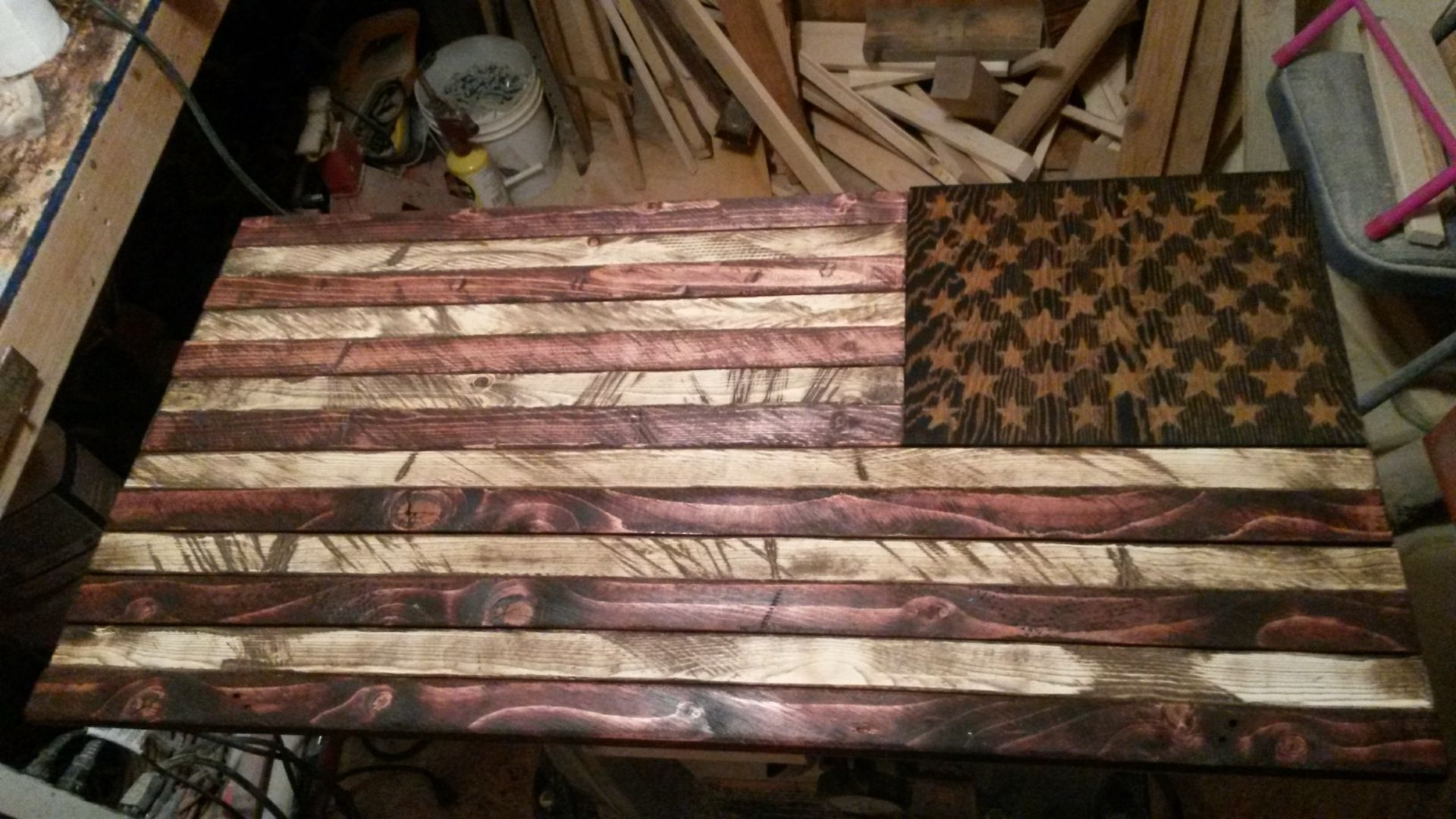 Buy A Handmade Rustic Distressed Wood American Flag, Made To Order With Popular Wooden American Flag Wall Art (View 11 of 15)