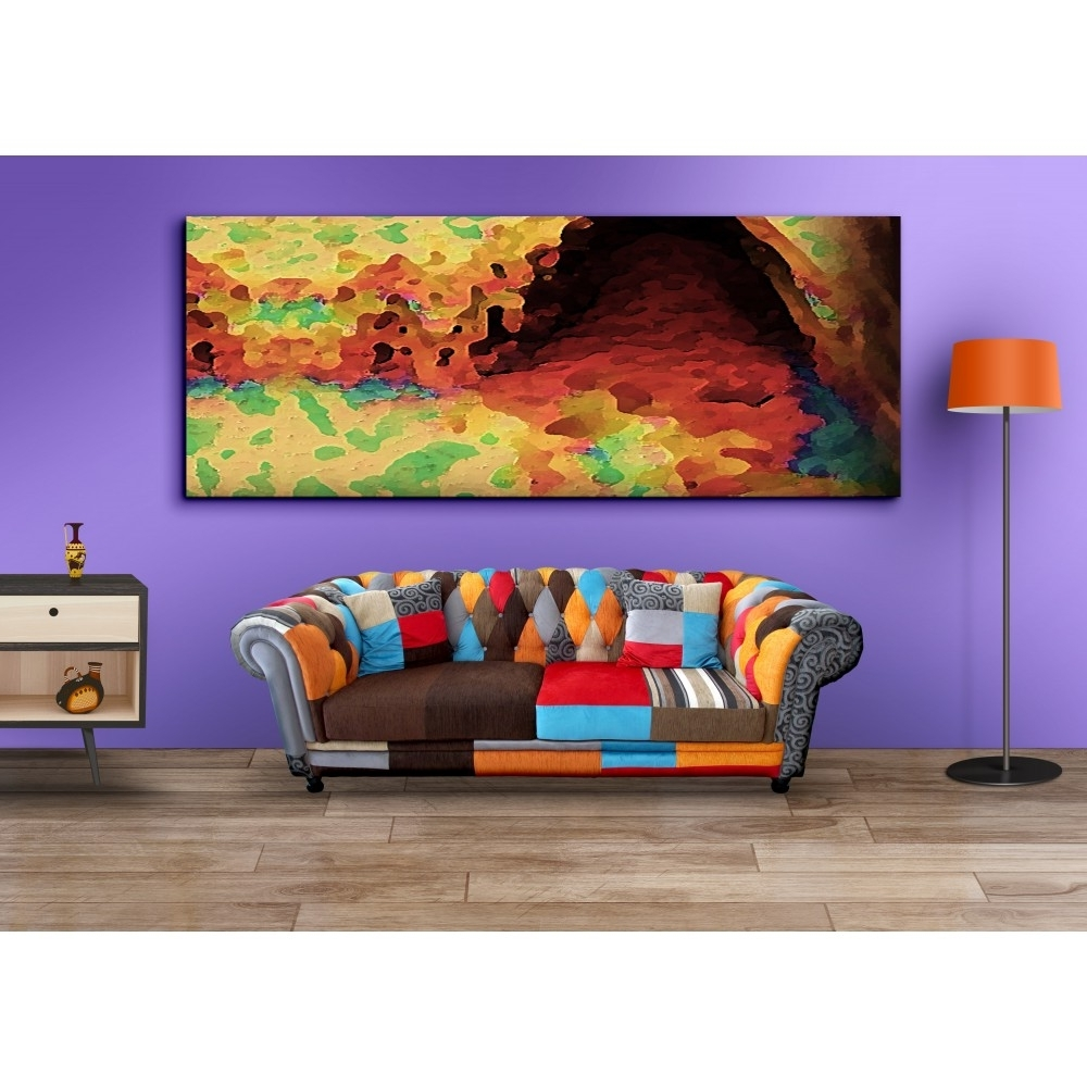 Buy Wall Art Canvas Print Long Horizontal Avant Garde – Makimus Designs With Regard To Best And Newest Long Canvas Wall Art (View 9 of 15)