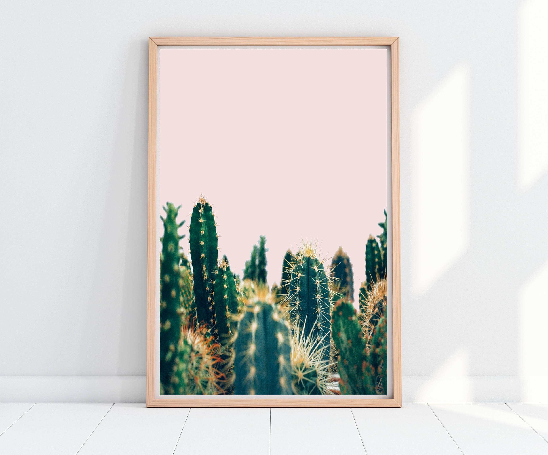 Cactus Print, Cactus Wall Art, Botanical Print, Tropical Decor In Famous Cactus Wall Art (View 5 of 15)