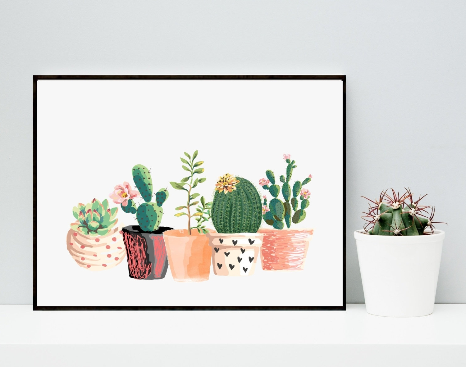 Cactus Wall Art With Regard To Well Known 35 Cactus Wall Art, Cactus Wall Art Wood Metal 80Cm – Swinkimorskie (View 7 of 15)
