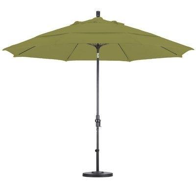 California Umbrella 11' Fiberglass Market Collar Tilt Umbrella With Regard To Trendy Wayfair Patio Umbrellas (View 2 of 15)