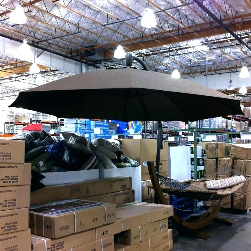 Cantilever Patio Umbrella Costco Cantilever Patio Umbrellas With Favorite Costco Patio Umbrellas (View 13 of 15)